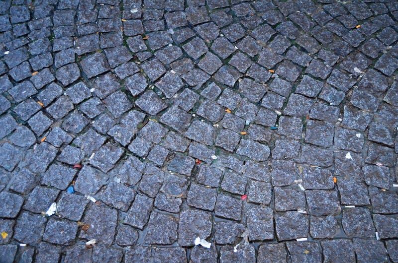 Luxury paving stone textured background. Tiles royalty free stock photo