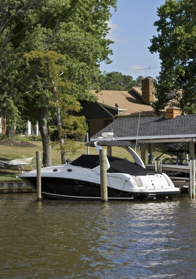 Luxury pleasure boat stock photos