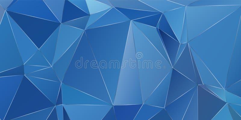 Luxury polygonal pattern of triangles royalty free illustration