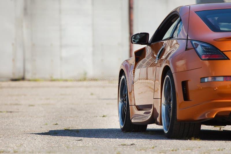 Luxury power-car closeup royalty free stock photography