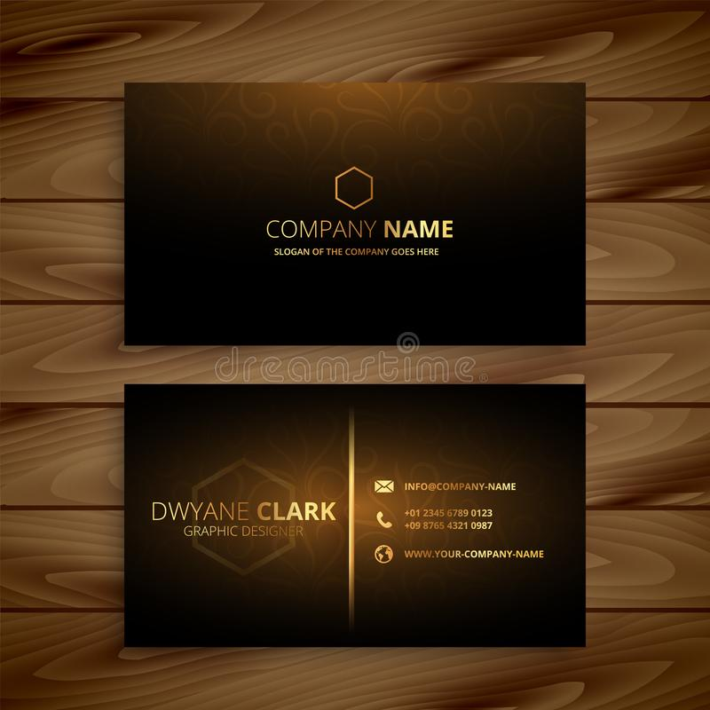 Luxury premium golden business card template vector illustration