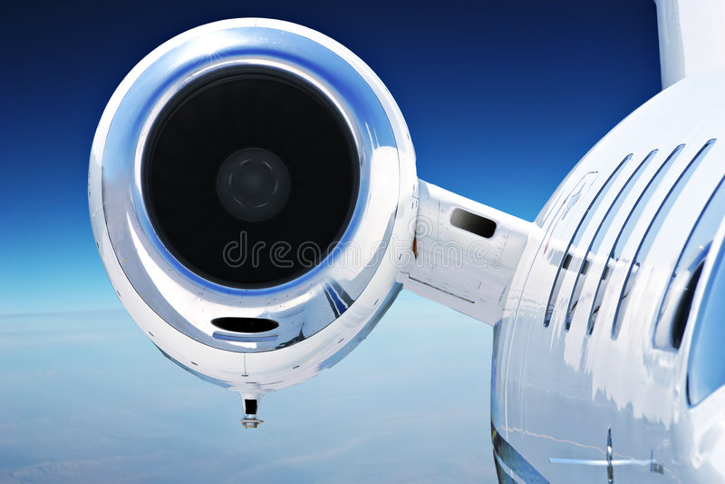 Luxury Priavate Jet stock image