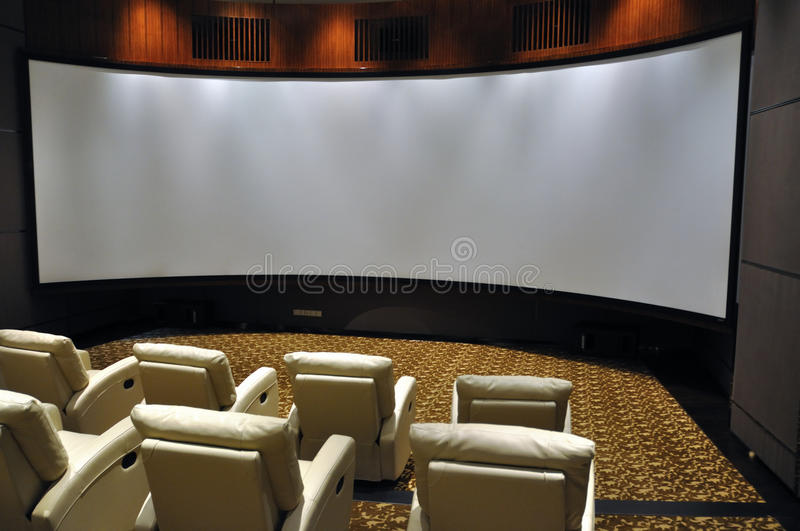 Luxury projection hall stock images