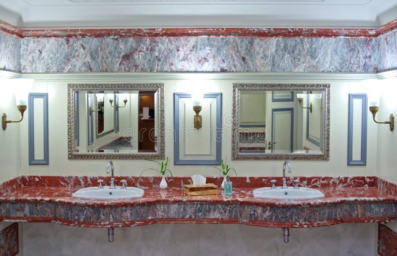Luxury public toilet stock photography