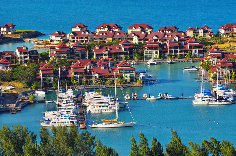 Luxury real estate, Eden island, Seychelles royalty free stock photos