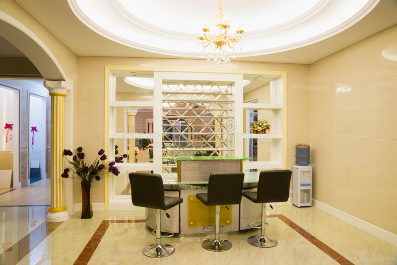 Luxury reception room. With nice decoration royalty free stock photos