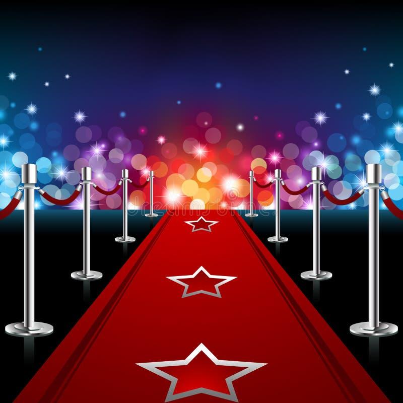 Luxury Red Carpet stock illustration
