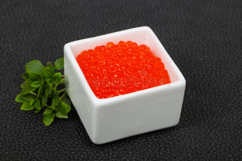 Luxury Red Caviar stock photography