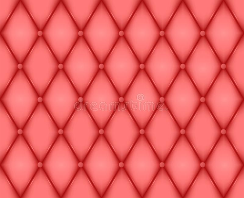 Luxury red leather texture. Genuine leather pattern. Rhombus geometric background. Vector EPS 10 illustration format. Luxury red leather texture. Genuine leather vector illustration