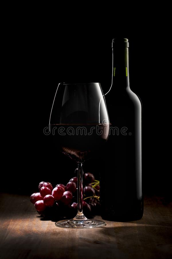 Luxury Red Wine No Label stock photography