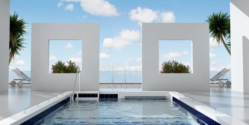 Download Luxury resort stock illustration. Image of sunny, luxury - 23802426