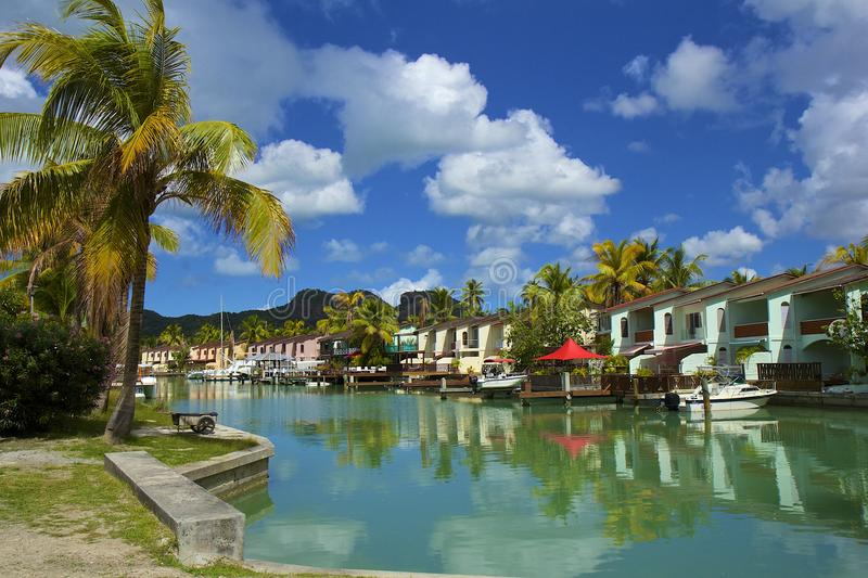 Luxury resort in Antigua. Luxury tropical resort in Antigua - Jolly Bay royalty free stock photography