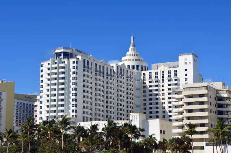 Luxury Resort Hotel on Miami Beach stock photos