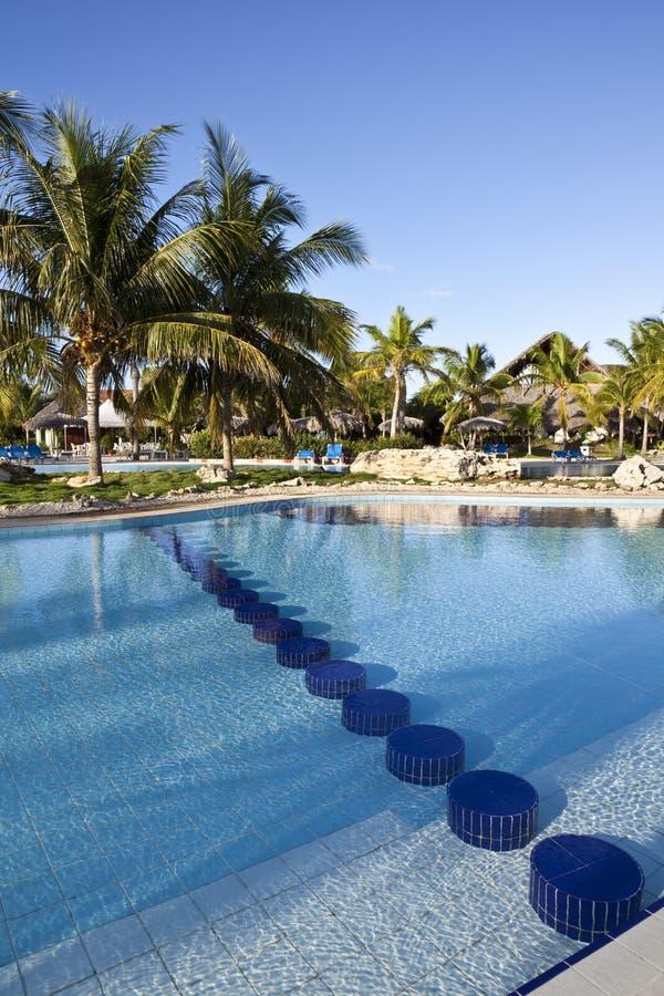 Luxury Resort Hotel Swimming Pool royalty free stock photography