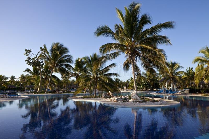Luxury Resort Hotel Swimming Pool royalty free stock photos