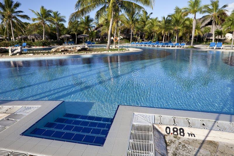 Luxury Resort Hotel Swimming Pool royalty free stock image
