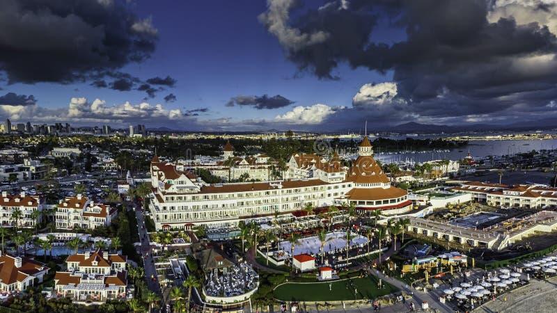 Luxury Resort Panorama on Coronado Island. San Diego stock image