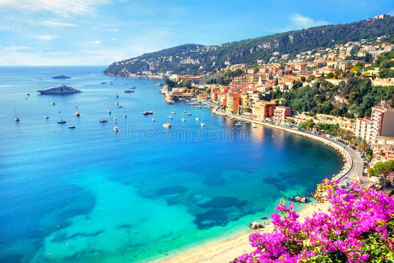 Villefranche sur Mer, Cote d Azur, French Riviera, France. Luxury resort of Villefranche sur Mer. French Riviera, Cote d Azur, France stock photo