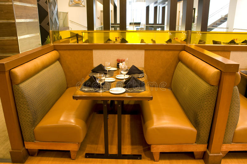 Luxury restaurant interiors stock photo