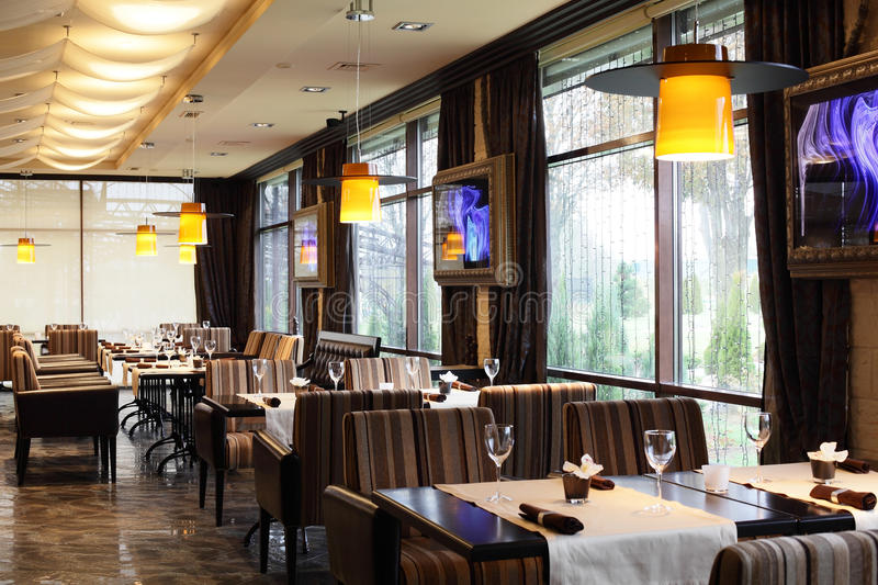 Download Luxury Restaurant In European Style Royalty Free Stock Image - Image: 34488706