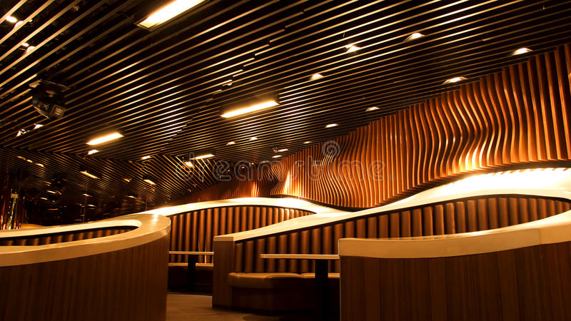 Luxury restaurant interior stock image of