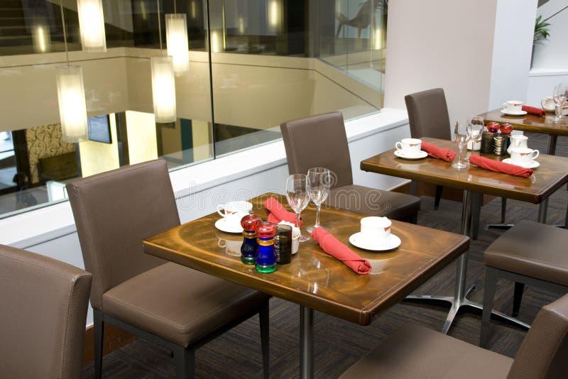 Luxury restaurant interiors stock photos