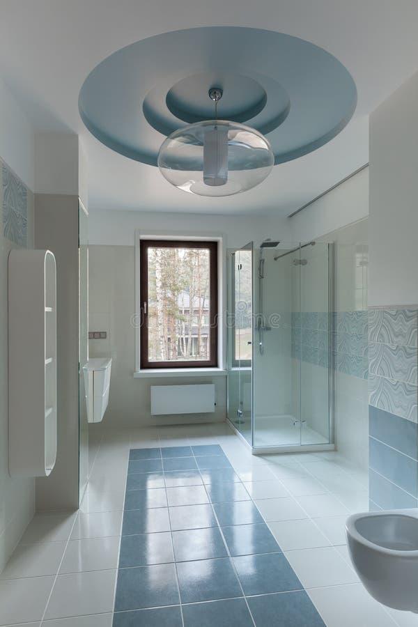 Luxury restroom interior stock images