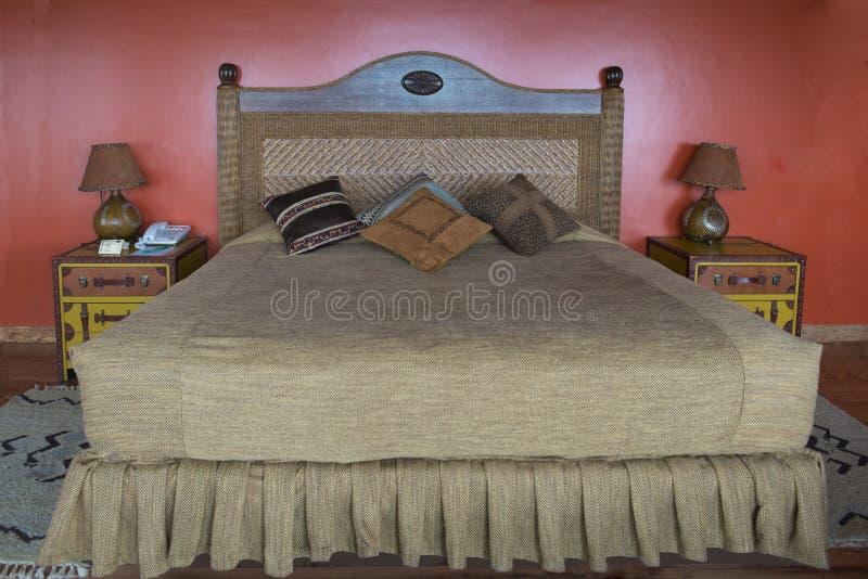 Bedroom in luxury Hotel Mweya Safari Lodge, Queen Elizabeth National Park stock photos