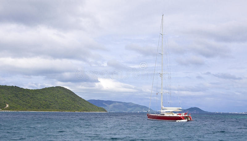 Luxury sailboat royalty free stock photography