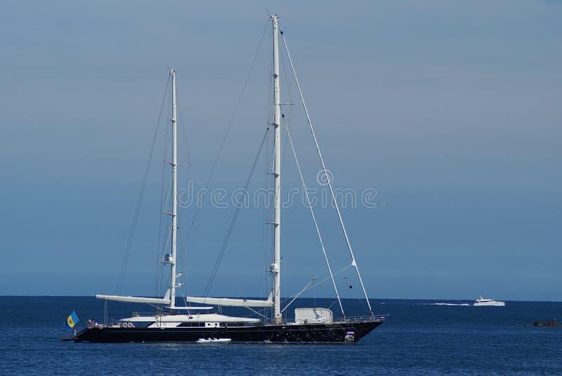 Luxury Sailing boat stock photo