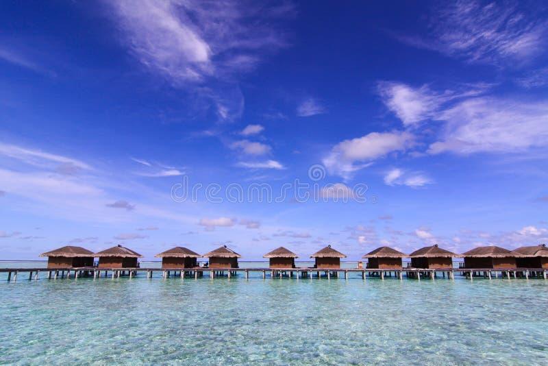Luxury sea water villa, Maldives royalty free stock images
