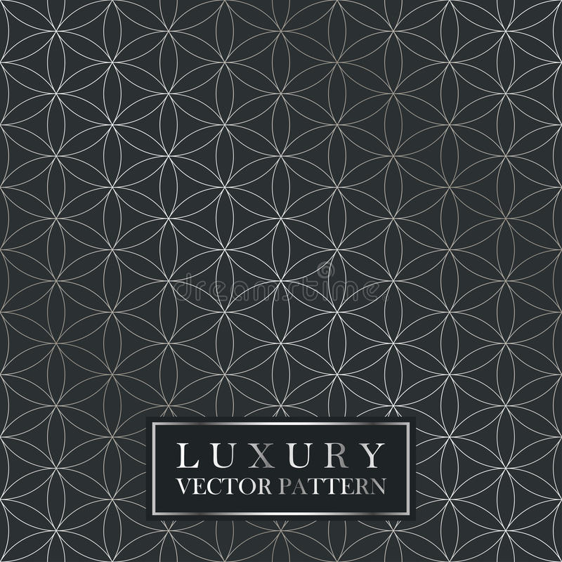 Luxury seamless ornate pattern - grid gradient texture. Dark vintage background. vector illustration
