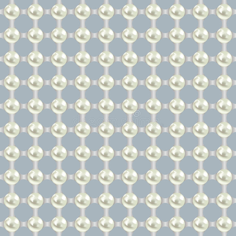 Luxury seamless pattern with white pearls royalty free illustration