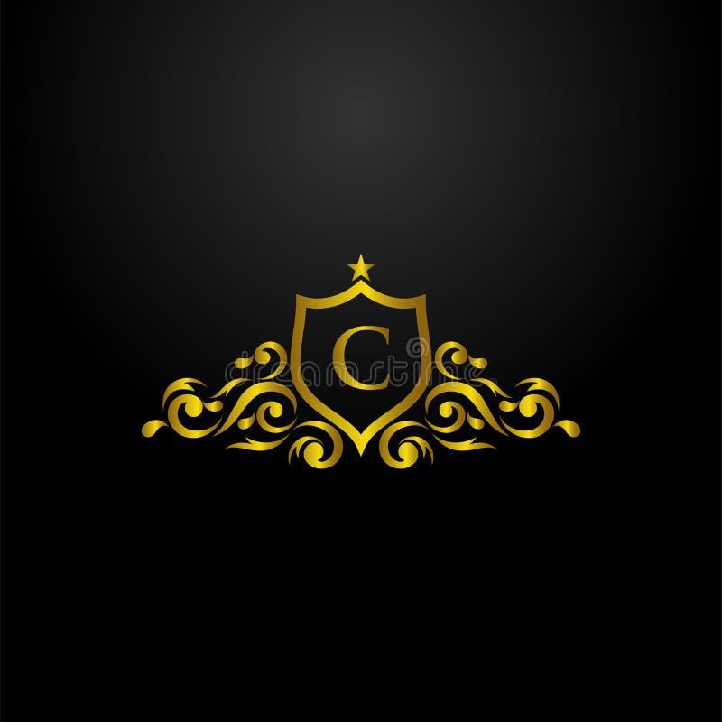 Luxury Shield Logo stock illustration