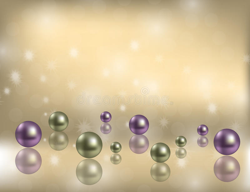 Luxury Shiny Pearls Background with decorative bokeh Flecks and space for Some Text. Vector Illustration vector illustration