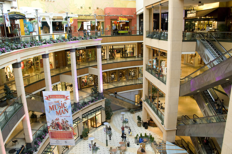 Download Luxury shopping mall editorial stock image. Image of busy - 28983634