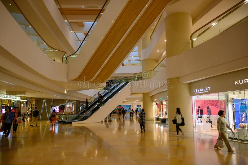 Luxury shopping mall Pacific Place, 88 Queensway, Hong Kong, China stock image