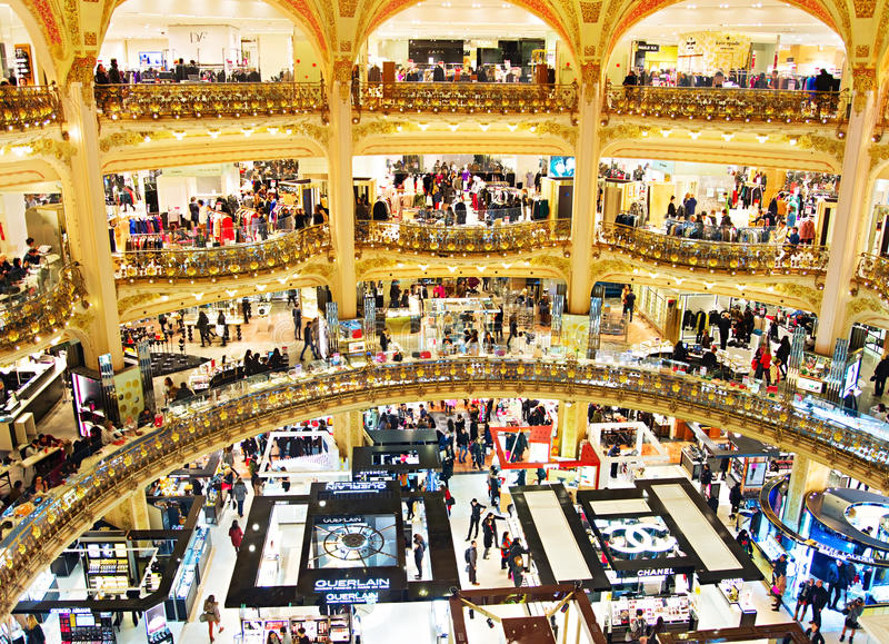 luxury shopping mall paris editorial photo image of designer