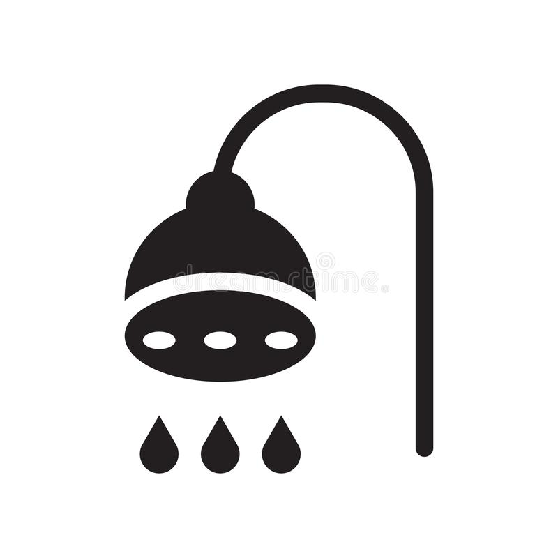 Luxury shower icon. Trendy Luxury shower logo concept on white b royalty free illustration