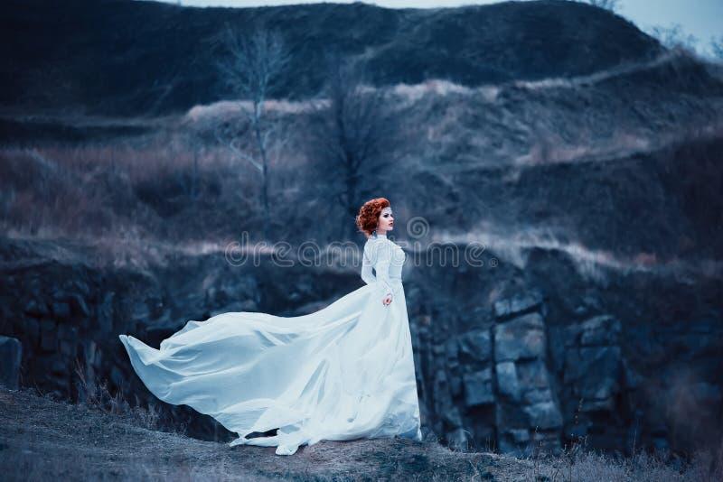 Luxury snow queen royalty free stock photo