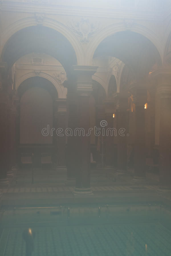 Luxury spa interior background stock photo