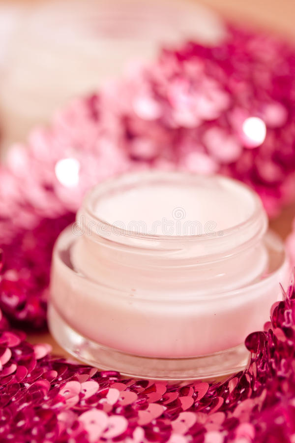 Download Luxury Spa Products And Pink Glitters Stock Image - Image: 25348411