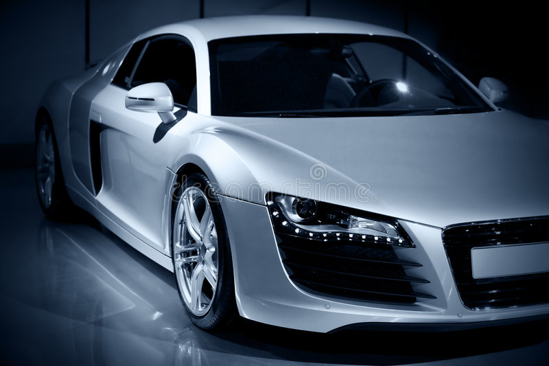 Download Luxury sport car stock image. Image of silver, show, racing - 4998577