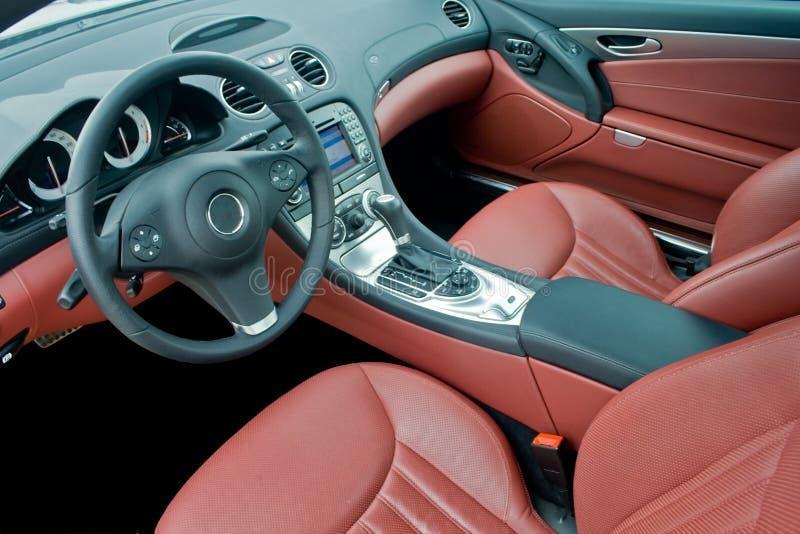 Luxury sport car interior royalty free stock photo