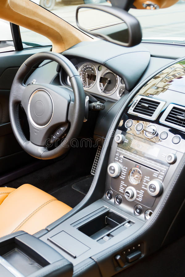 Download Luxury sports car interior stock photo. Image of comfortable - 26638682