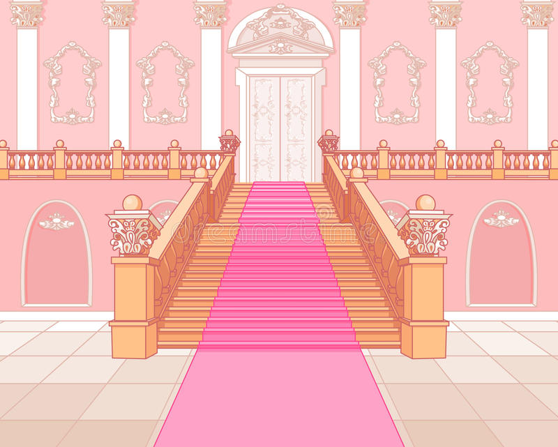 Luxury staircase in palace. Luxury staircase in the magic palace royalty free illustration
