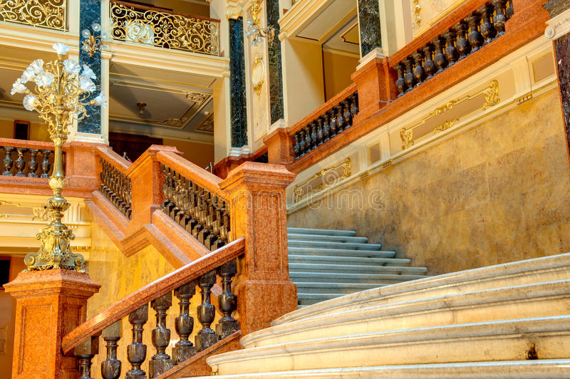 Luxury stairway royalty free stock photos