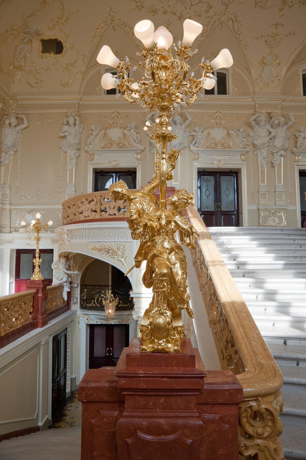 Luxury stairway royalty free stock photography
