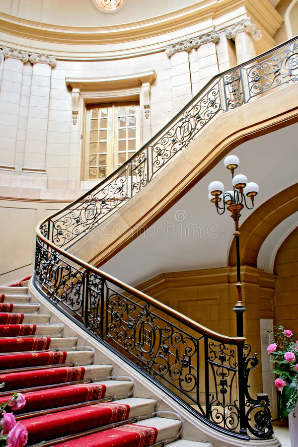 Download Luxury stairwell. stock photo. Image of luxury, marble - 5720574