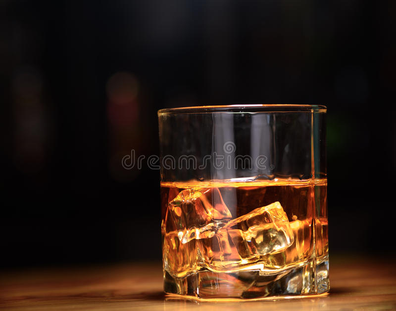 Luxury still life of whisky glass. Copyspace royalty free stock photos